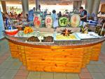 Buffet restaurant at Doreta Beach Resort