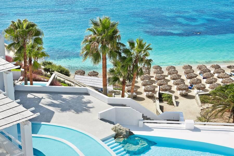 Holidays at Mykonos Blu Hotel in Psarrou Beach, Plati Gialos