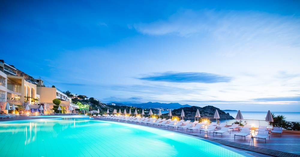 Holidays at Blue Marine Resort and Spa Hotel in Ammoudara Beach, Aghios Nikolaos