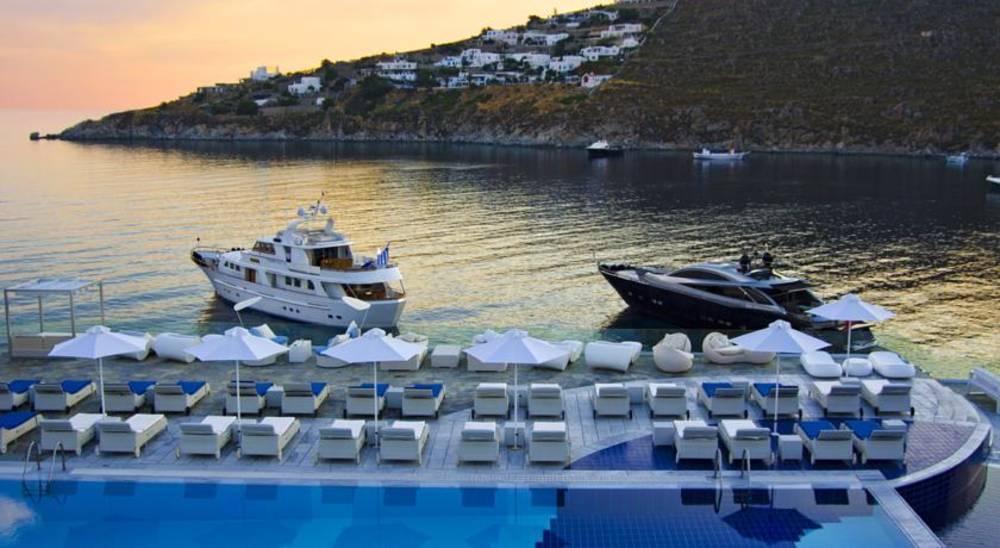 Holidays at Petasos Beach Hotel in Plati Gialos, Mykonos