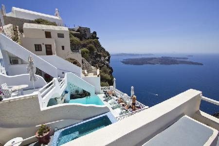 Holidays at Spiliotica on the Cliff in Imerovigli, Santorini