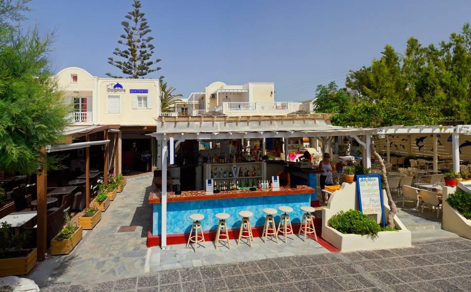 Holidays at Dolphins Hotel in Kamari, Santorini