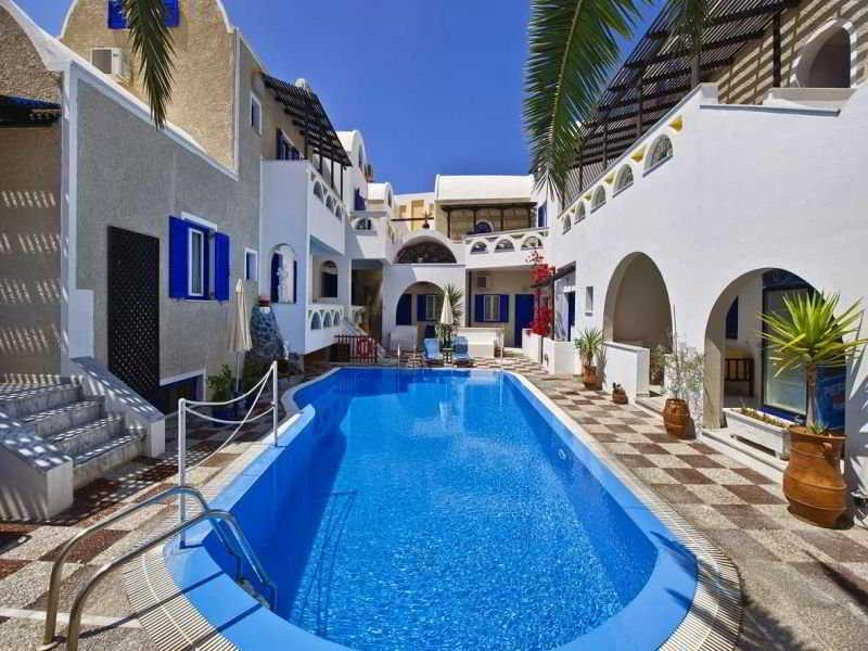 Holidays at Belair Hotel in Perissa, Santorini