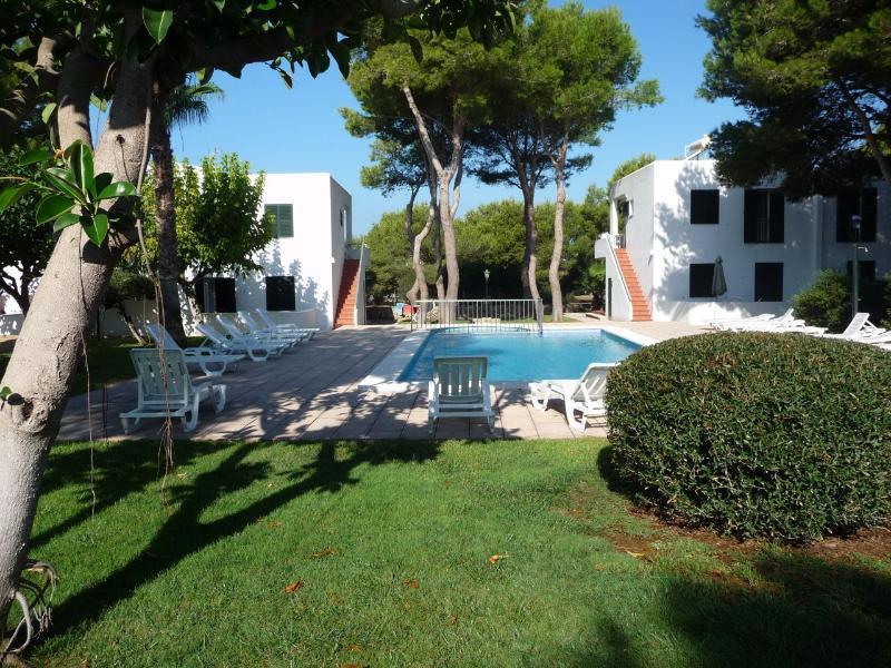 Holidays at Llebeig Apartments in Cala Santandria, Menorca