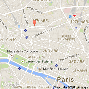 map view of paris where opera st lazare arr 9 is situated
