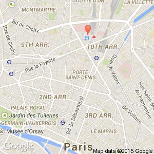 Gard Du Nord Paris Map.Gare Du Nord Republique Arr 10 11 Hotels Paris France