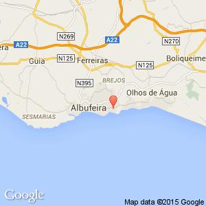 Muthu Club Praia Da Oura Apartments Albufeira Algarve Portugal - Praia map