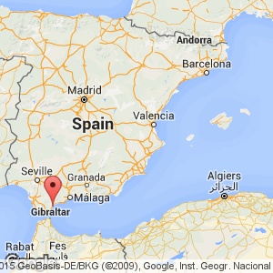 Map view of Costa del Sol ...