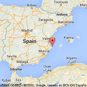 Map view of Costa Blanca where ...
