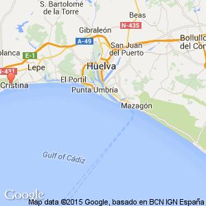 Costa De La Luz Spain Map.Oasis Isla Cristina Hotel Huelva Costa De La Luz Spain Book
