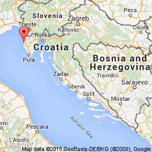 Porec hotels croatia book cheap porec hotels map view of croatia where porec is situated publicscrutiny Images