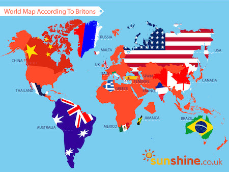 The world map according to britons sunshine news only italy and the uk were correctly placed by over 90 of respondents gumiabroncs Choice Image